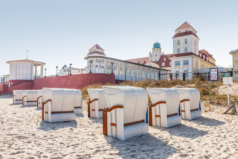 Chaises de plage à Binz sur Rügen, mer Baltique sur Christian Müringer