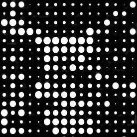 Abstraktes gepunktetes Muster in Schwarz und Weiß von Maurice Dawson