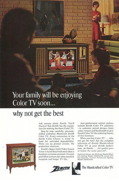 ZENITH Farbfernseher von Jaap Ros