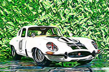Jaguar E-Type van Jean-Louis Glineur alias DeVerviers
