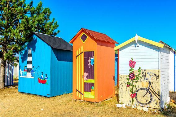 Strand kabines op Ile d'Oléron van 7Horses Photography