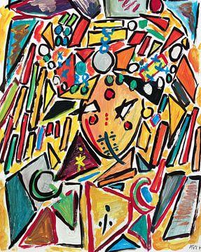 portrait van Hassan Hamdi