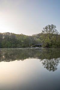 Zonsopkomst op een mooie lente ochtend in de Cranenweyer