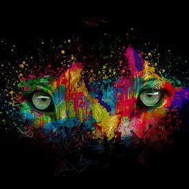 leeuwen ogen van AL Art