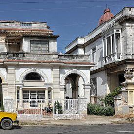 Oude auto in Havana,Cuba. van Tilly Meijer