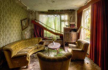 Verlassenes Wohnzimmer, Niederlande von Roman Robroek