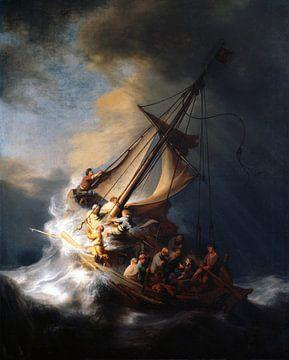 Le Christ dans la tempête sur le lac de Galilée, Rembrandt du Rhin