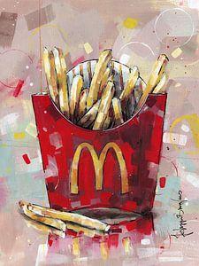 McDonald's Pommes frites malerei.