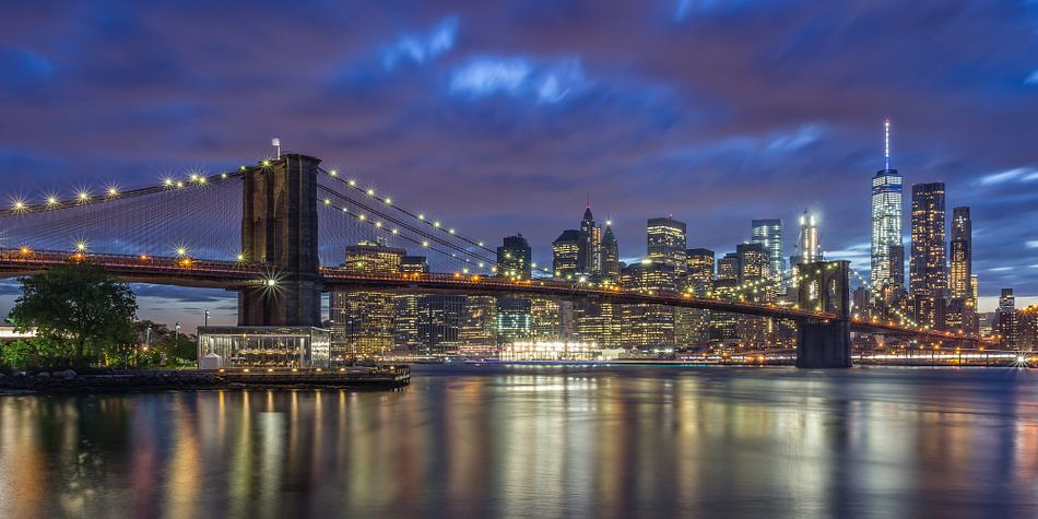 New York Skyline - Brooklyn Bridge 2016 (4) van Tux Photography