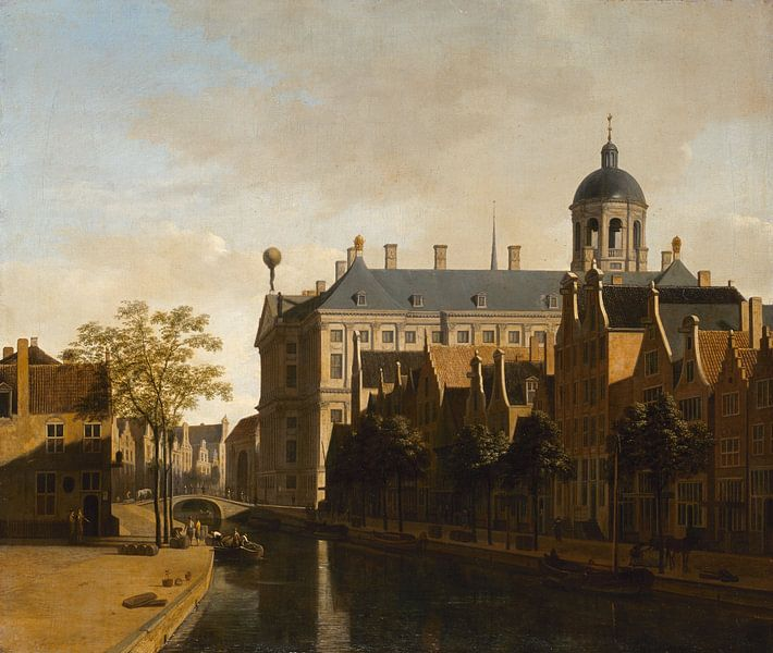 Blick auf das Rathaus von Amsterdam, Gerrit Berckheyde von Meesterlijcke Meesters
