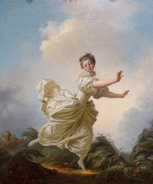 Jean-Honore Fragonard. The Feigned Flight  van 1000 Schilderijen