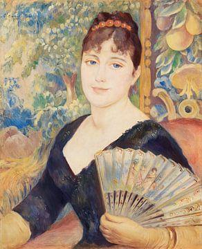 Frau mit Fächer, Renoir (1886)