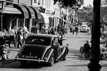 Klassieke auto's in Leiden van Jeffrey de Graaf