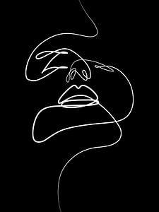 Gezicht, zwart van Charlotte De Schinkel