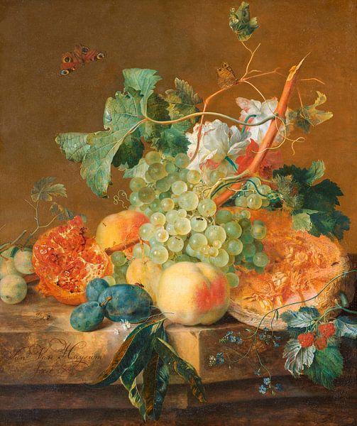 Stilleben mit Früchten, Jan van Huysum von Meesterlijcke Meesters