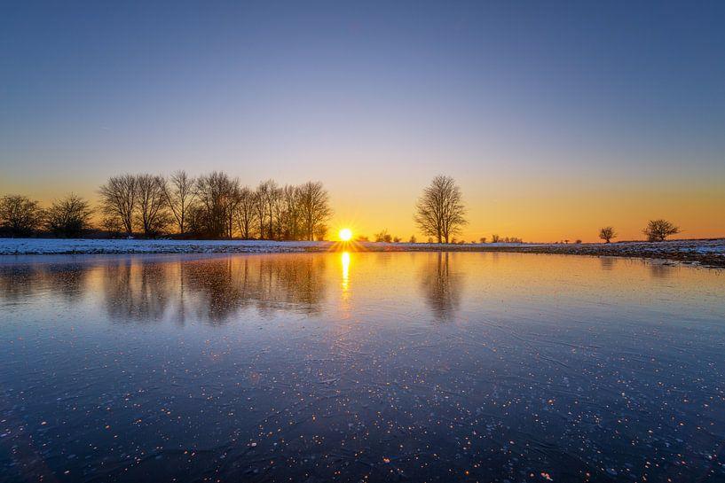 Zonsondergang Blauwe Kamer I van Sander Peters Fotografie