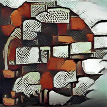 Abstract Inspiratie XXXI van Maurice Dawson