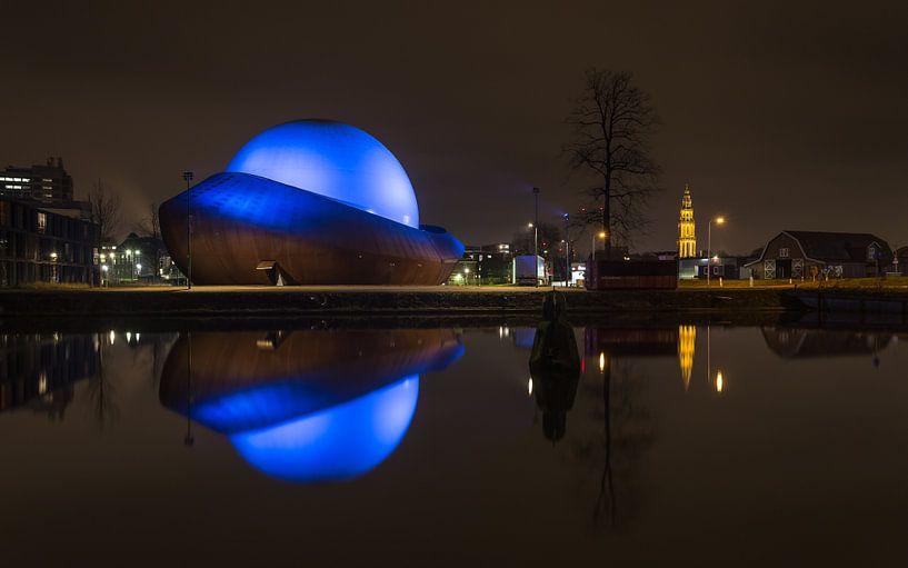 Infoversum at night, Groningen van Koos de Wit