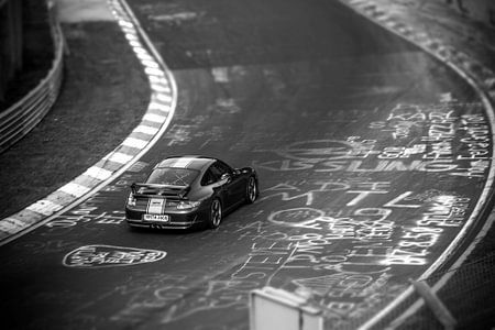 Porsche 911 GT3 op de Nordschleife