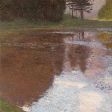 Een ochtend bij de vijver, Gustav Klimt...