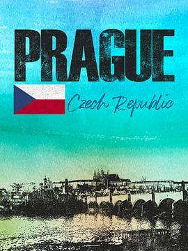 Prague République tchèque sur Printed Artings