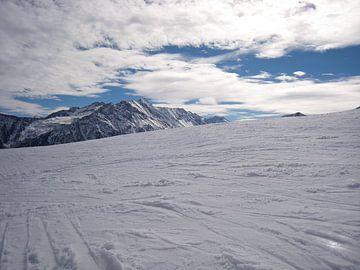 Österreich Berg im Schnee von Sjoerd B