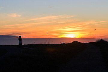 Sonnenuntergang mit Blick auf den Leuchtturm von Angelique Houmes