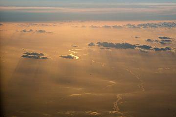 Zonsondergang van Ron van der Meer