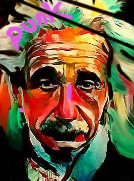 Albert Einstein PUNK Classic Pop Art PUR  von Felix von Altersheim