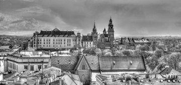 Kasteel Wawel en oude stadsdaken van Torsten Krüger