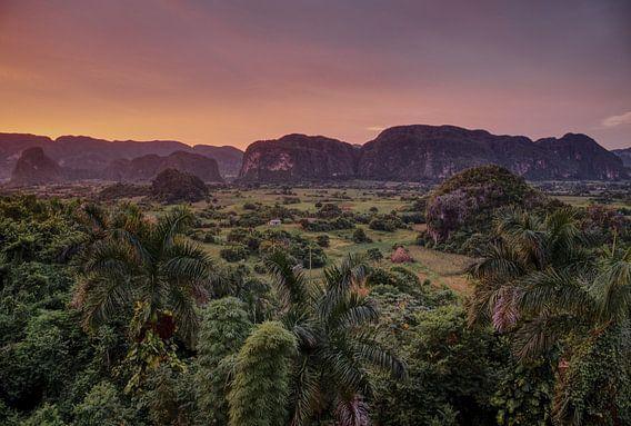 Viñales Vallei bij zonsondergang