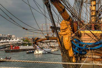 L'âge d'or, Coucher de soleil à Götheborg grand voilier. Sail Amsterdam 2015 (Pays-Bas) sur Hans Brinkel