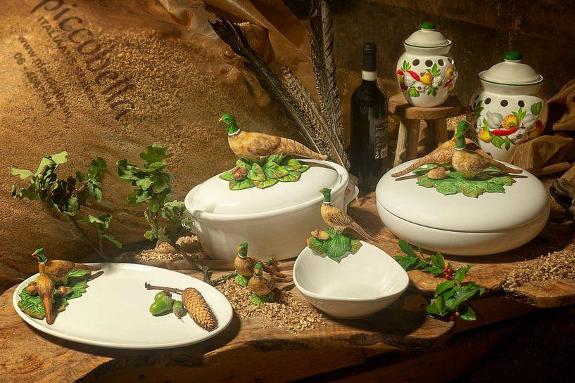 Piccobella servies met fazanten van Christa Thieme-Krus