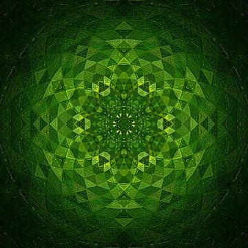 Mandala Blattgrün von Sabine Wagner