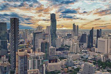 Uitzicht over Bangkok van Bernd Hartner