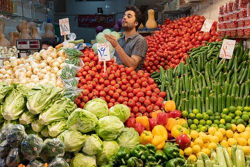 Groentenwinkel in Teheran
