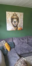 Klantfoto: Buddha van Gena Theheartofart, op canvas