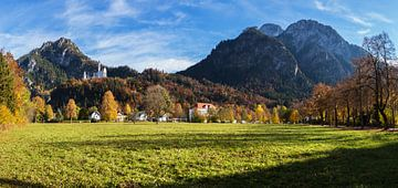 Schloss Neuschwanstein mit Bergpanorama