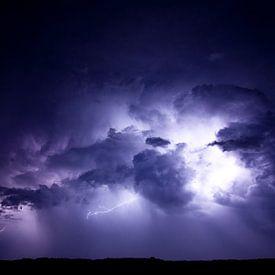 Onweer boven de Boschplaat van schylge foto