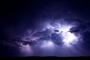 Onweer boven de Boschplaat van