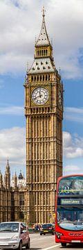 Elizabeth Tower | Vertikales Panorama von Melanie Viola