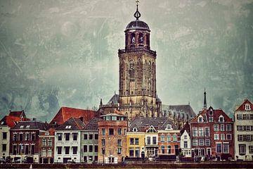 Stadsgezicht Deventer (3b) van Rob van der Pijll