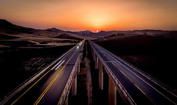 Siciliaanse zonsondergang van Mario Calma