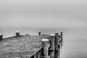 Misty Waterfront von Mariette Alders