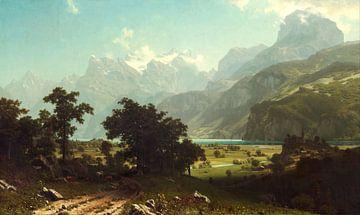 Albert Bierstadt. Lake Lucerne sur