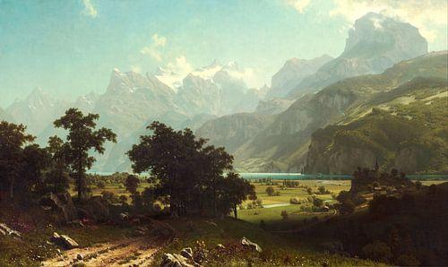 Albert Bierstadt. Lake Lucerne van 1000 Schilderijen