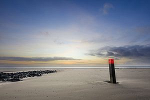 Ameland strandpaal strand Hollum van