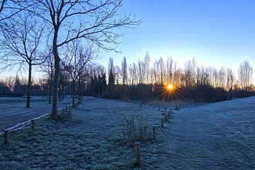 Koude zonsopgang in Maart van Frank Amez