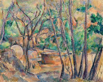 Cézanne, Der Schleifstein und die Zisterne im Gestrüpp (ca. 1892-1894)