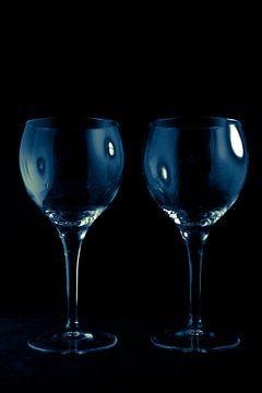 Blue glass van I Baay